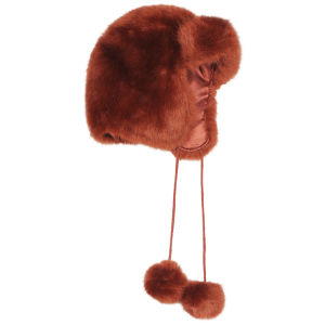 Women's Faux Fur Trapper - Burnt Orange