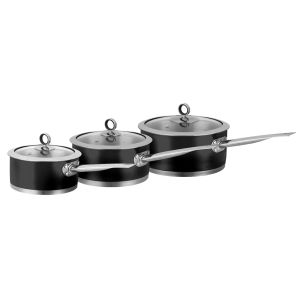 Morphy Richards Accents 3 Piece Pan Set - Black