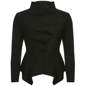 GROA Women's Boiled Wool Winter Jacket - Black