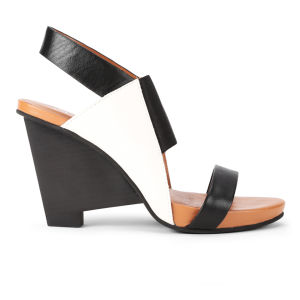 United Nude Women's Sensi Hi Leather Wedges - Black/White