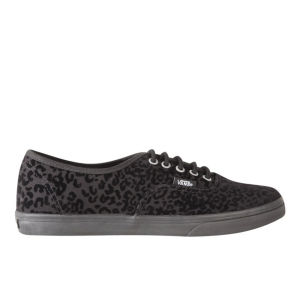 Vans Women's Authentic Lo Pro Cheetah Trainers - Black