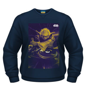 Star Wars Sweatshirt - DJ Yoda - Blue