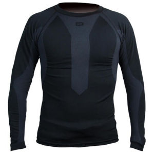 Polaris Torsion Long Sleeve Baselayer - Black/Charcoal
