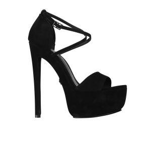 KG Kurt Geiger Women's Nanette Suede Heeled Platform Sandals - Black