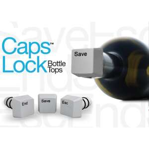 Caps Lock Bottle Tops