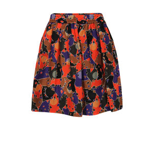 Marc by Marc Jacobs Women's 100 Nata Camouflage Flamingo Skirt - Red