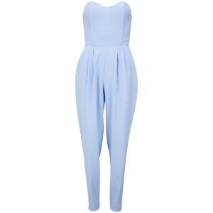 LOVE Women's Strapless Jumpsuit - Blue