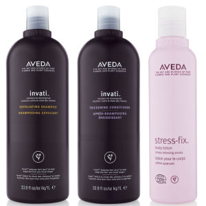 Aveda Invati Shampoo and Conditioner 1000ml with Stress Fix Body Lotion - (Worth £256.00)