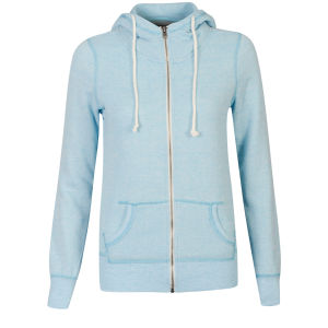 Brave Soul Women's Fleck Zip Through Hoody - Turquoise