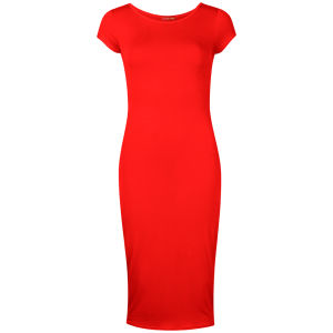 Influence Women's Midi Jersey Dress - Red