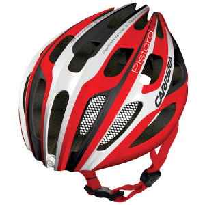 Carrera Pistard 2014 Road Helmet with Rear Light - Red/White