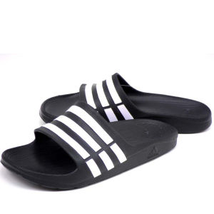 adidas Men's Duramo Slide Flip Flops - Black/White