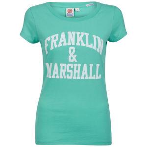Franklin & Marshall Women's Jersey Uni T-Shirt - Neptune