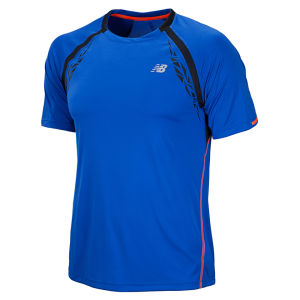 New Balance Men's Impact Short Sleeve T-Shirt - Cobalt