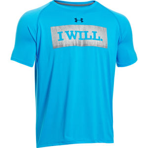 Under Armour Men's I Will T-Shirt Electric - Blue/Metallic Silver