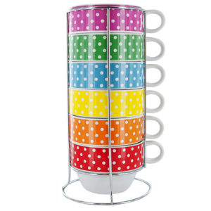 Café Latte XL Mini Dots Tower  - Ceramic