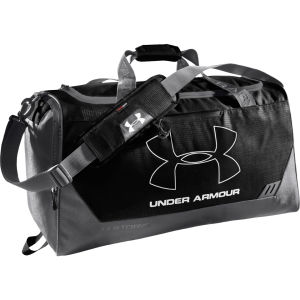 Under Armour Men's Hustle Medium Duffle Bag - Black/Graphite/Silver