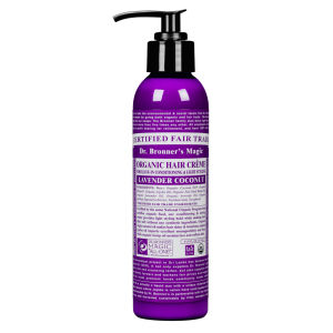 Dr. Bronner Organic Leave-In Hair Conditioner and Style Creme Lavender (178ml)