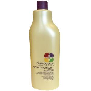 Pureology Perfect 4 Platinum Shampoo (1000ml) with Pump
