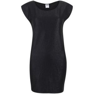 Vero Moda Women's Uru Short Sleeve Metallic Foil Dress - Black
