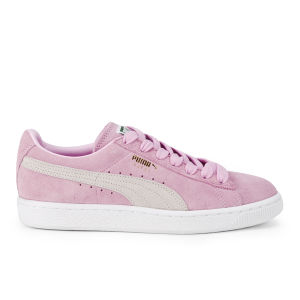 Puma Women's Suede Classics Pastel Trainers - Pink/White