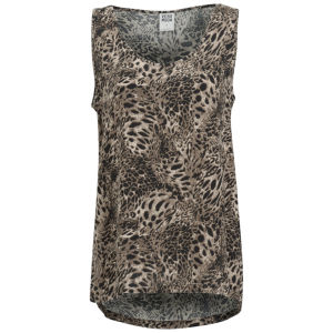 Vero Moda Women's Easy Leopard Print Tank Top - Black