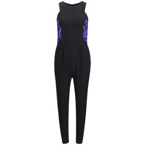 AnhHa Women's Embroidered Jumpsuit - Black