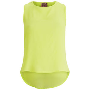 Neon Rose Women's Crop Shell Top - Yellow