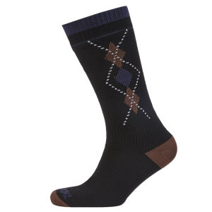 SealSkinz Mid Weight Mid Length Socks - Black/Brown