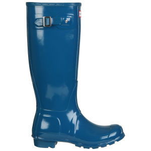 Hunter Women's Original Tall Gloss Wellies - Feather Blue