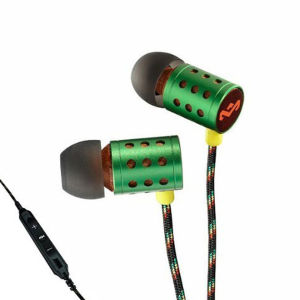 The House of Marley Midnight Ravers Earphones Includes Mic - Rasta