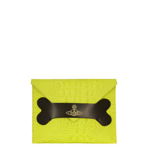 Vivienne Westwood - Accessories Women's 6154 Dino Leather Clutch Bag - Neon Lime