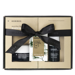 Korres Black Pine 1+1 Set - Eye Cream (15ml) and Day Cream for Dry Skin (40ml) (Worth £75.00)