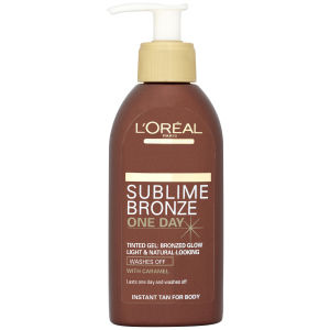 L'Oreal Paris Sublime Bronze Instant One Day Wash Off Tinted Gel - Light (150ml)