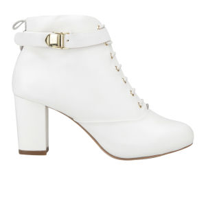 Kat Maconie Women's Katya Lace Up Heeled Ankle Boots - Ice Grey
