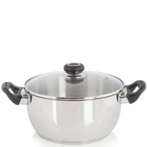 Morphy Richards Equip 24cm Stainless Steel Casserole Pot