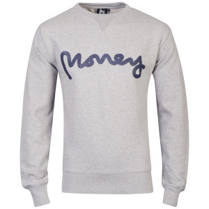 Money Men's Sig Ape Sweatshirt - Grey Marl