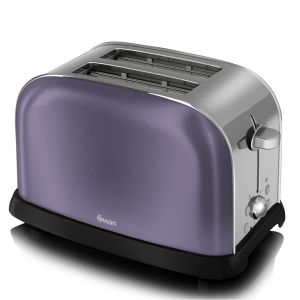 Swan Metallic 2 Slice Toaster - Purple