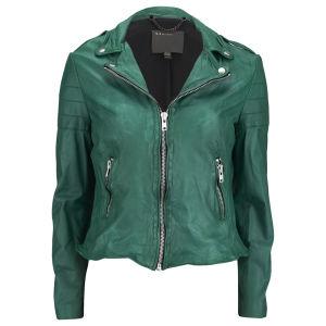 Muubaa Women's Presley Biker Jacket - Green
