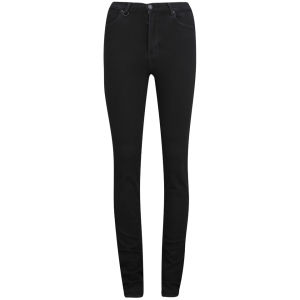 NEUW Women's Marilyn High Rise Skinny Jeans - Black Raw