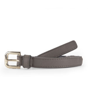 French Connection Gia Woven Leather Belt - Sea Grass