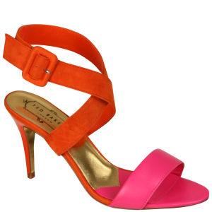 Ted Baker Women's Jolea Heeled Sandals - Orange/Pink Suede and Leather