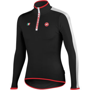 Castelli Spinta Long Sleeve Jersey - Black/White/Red