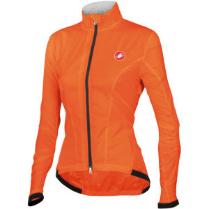 Castelli Leggera Women's Windproof Jacket - Fluorescent Orange
