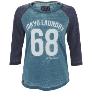 Tokyo Laundry Women's Bella Three Quarter Sleeve Top - Ocean Depths