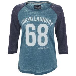 Tokyo Laundry Women's Bella Three Quarter Sleeve Top - Ocean Depths