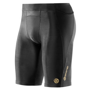 Skins A400 Men's Compression Half Tights - Black