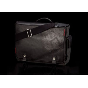 Contour Mens Fashion Leather Bag with C 15 Inch Black