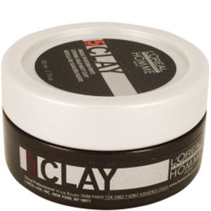 L'Oreal Professionnel Homme Clay - Haarstyling Paste starker Halt 50ml