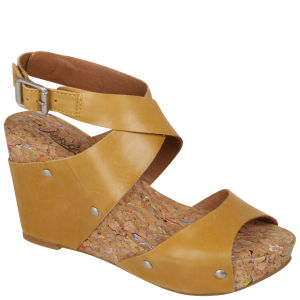 Lucky Brand Women's Moran Cork Wedges - Sunflower